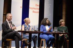 Oliver Scheiber, Daniela Platsch, Mireille Ngosso & Birgit Hebein© Alte Schmiede/Mehmet Emir