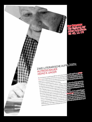 Nr. 40, Dezember 2009: Alfredo Bauer / Heinz R. Unger