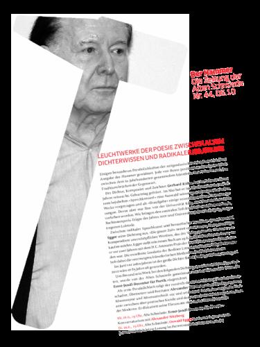 Nr. 44, Juni 2010: Gerhard Rühm / Oswald Egger / Ernst-Jandl-Dozentur-für-Poetik