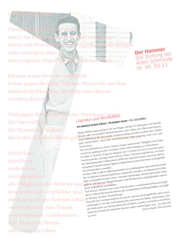 Nr. 49, Mai 2011: Roque Dalton (Autorenprojekt Hackl/Leisch)
