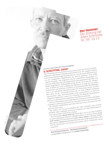 Nr. 59, Oktober 2012: Julian Schutting