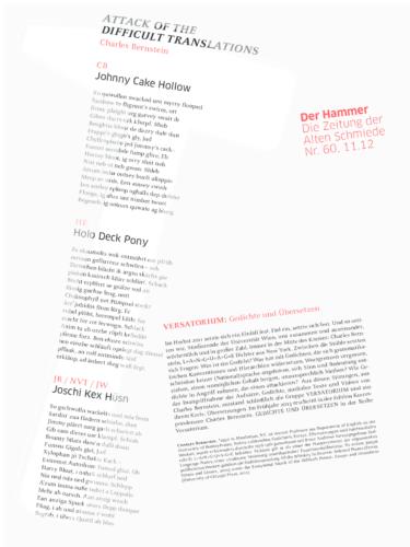 Nr. 60, November 2012: Charles Bernstein & VERSATORIUM
