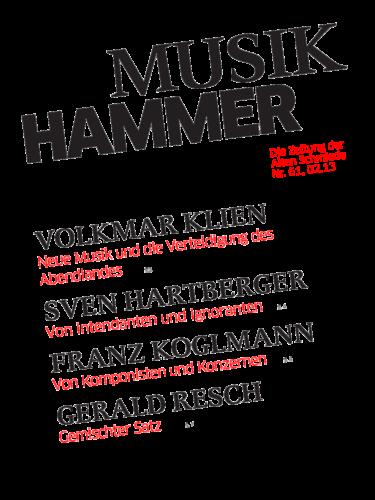 Nr. 61, Februar 2013: Musikhammer 2013