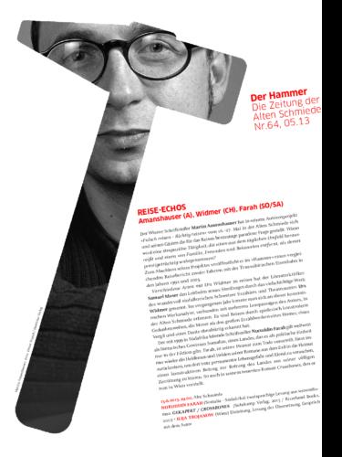 Nr. 64, Mai 2013:  Reise-Echos(Autorenprojekt M. Amanshauser)