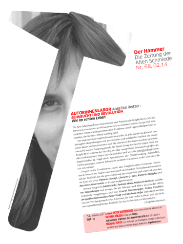 Nr. 68, Februar 2014:  Sehnsucht und Revolution (Autorinnenlabor A. Reitzer)