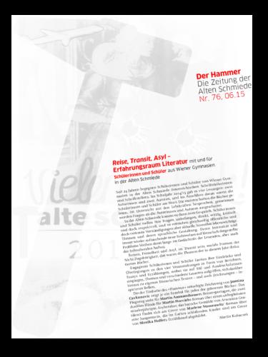 Nr. 76, Juni 2015: Reise, Transit, Asyl(AG Germanistik)