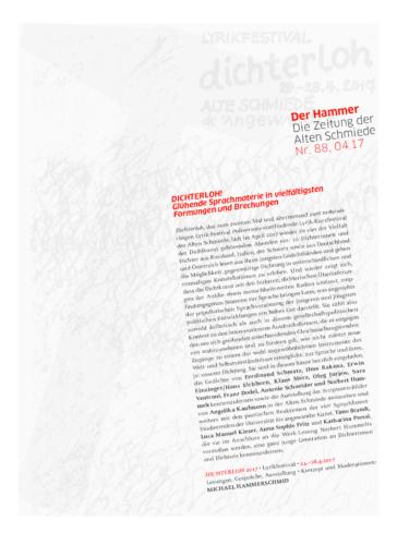 Nr. 88, April 2017: Dichterloh 2017