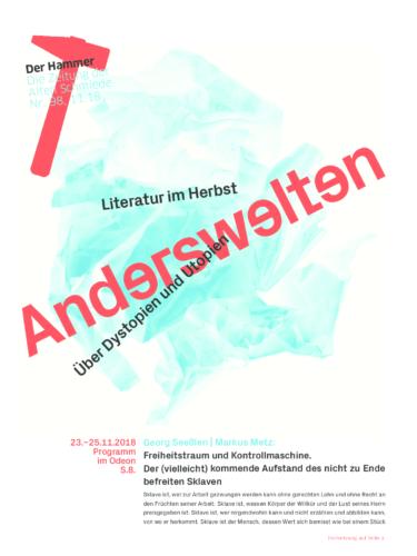 Nr. 98, November 2018: Literatur im Herbst 2018