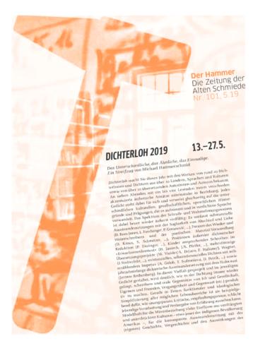 Nr. 101, Mai 2019: Dichterloh 2019