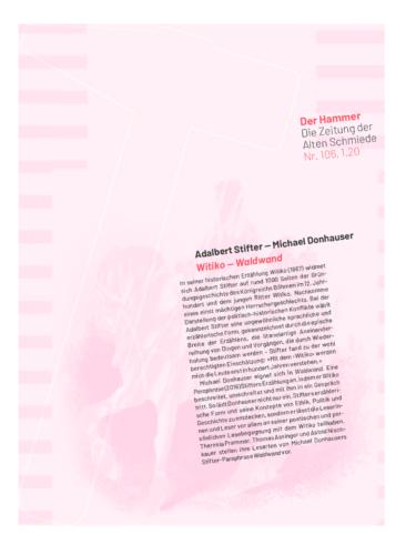 Nr. 106, Jänner 2020: Adalbert Stifter – Michael Donhauser